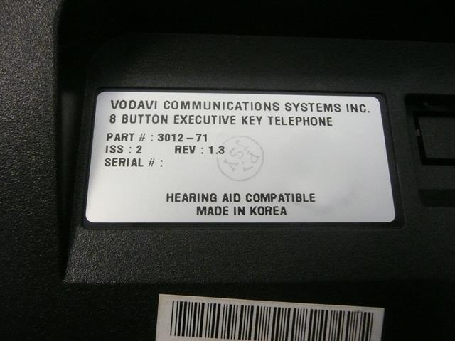 Vertical Vodavi XTS 3012-71 8 Button Digital Telephone image