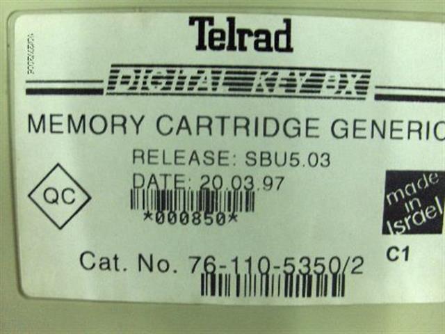 Telrad 76-110-5350 Memory Cartridge image