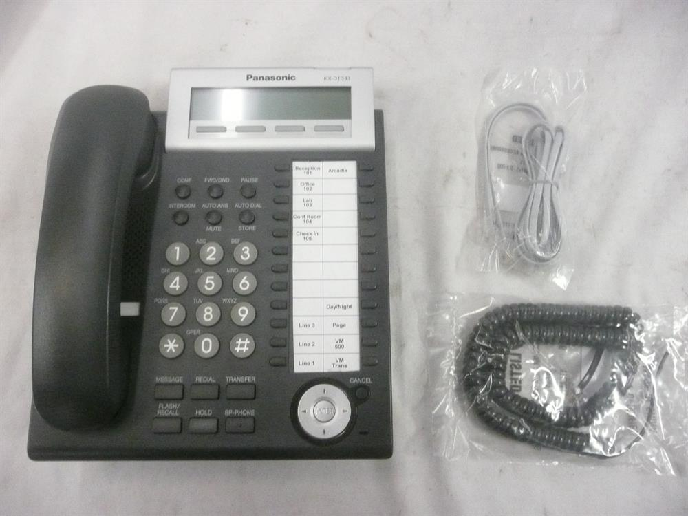 Panasonic DT300 Series KX-DT343-B 24 Button Digital Telephone with Full Duplex Speakerphone and 3 Line Backlit Display image