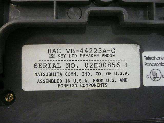 Panasonic VB-44223A-G Phone image