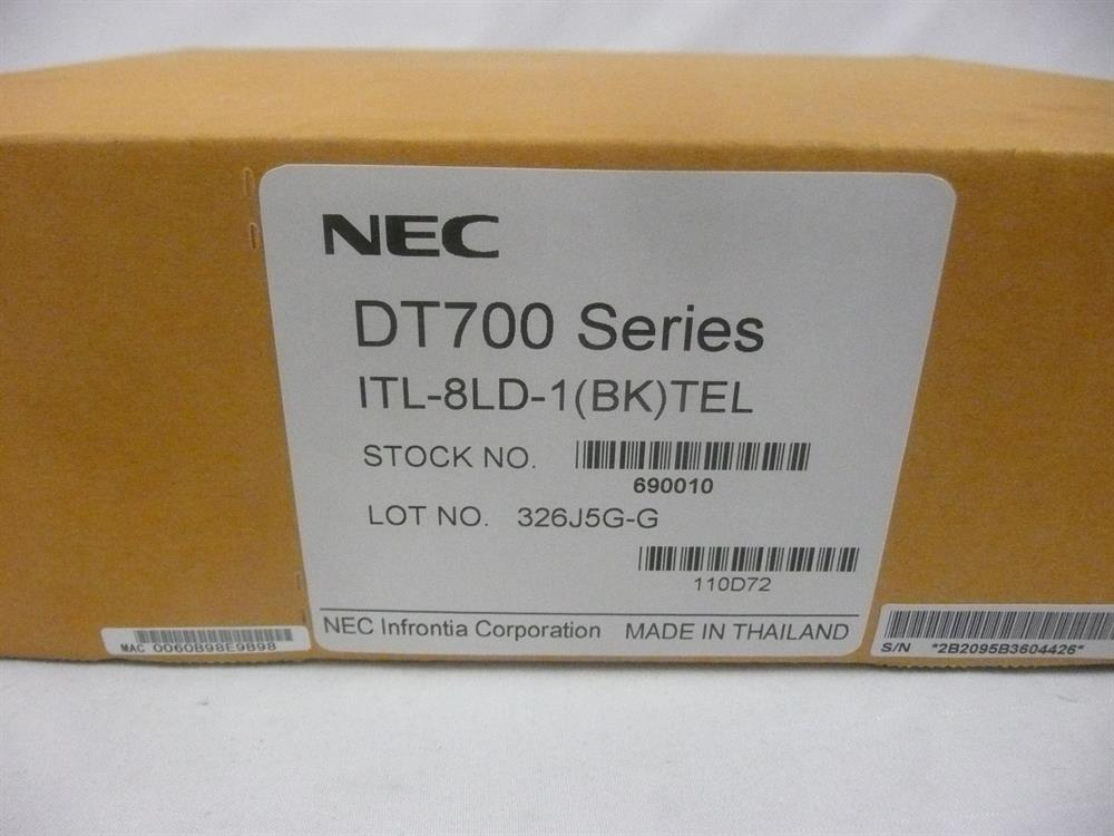 New NEC DT700 Series ITL-8LD-1 690010 8 Button Self-Labeling VoIP Telephone with Display and Speakerphone image