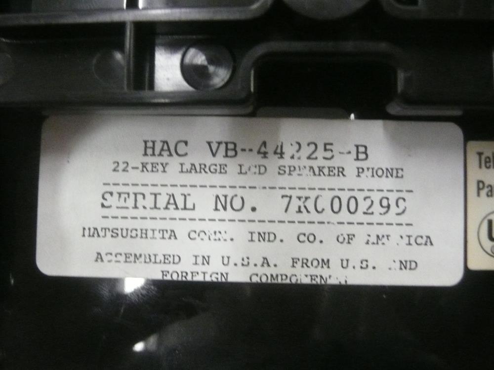 VB-44225-B Panasonic image