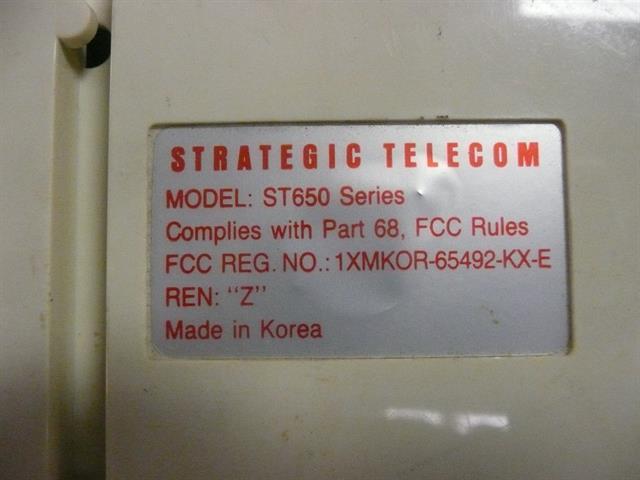 Strategic Telecom ST650 (B-Stock) Phone image