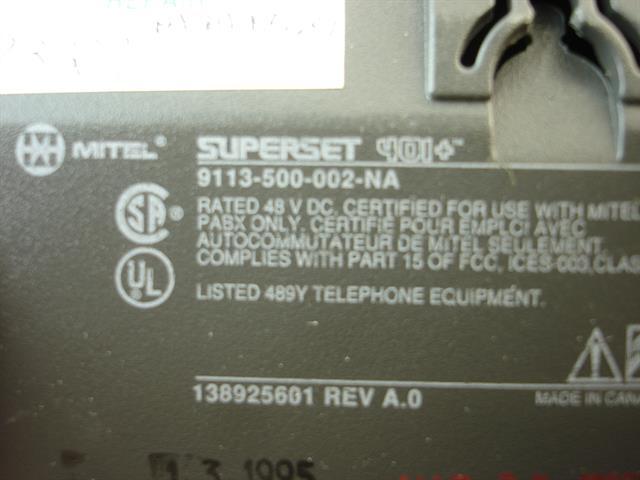 Mitel 401+ - 9113-500-002-NA Phone image