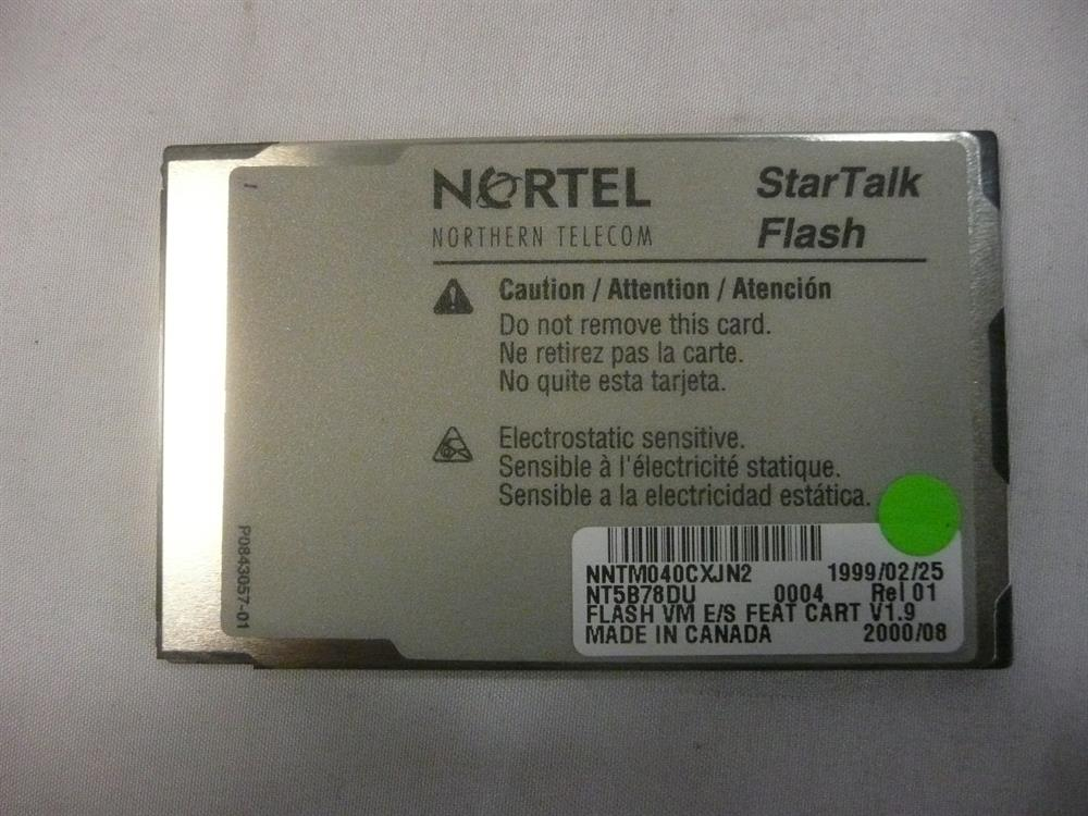 Nortel-Norstar NT5B78DU Software Card image