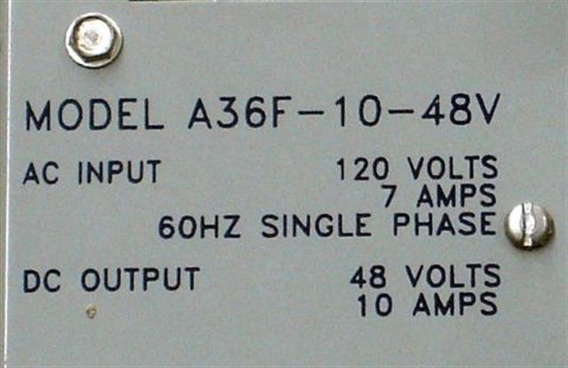 LaMarche A36F-10-48V Power Supply image