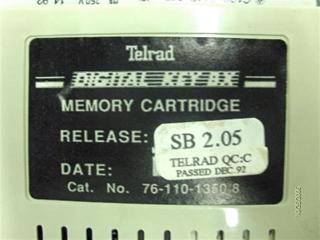 Telrad 76-110-1350 Memory Cartridge image