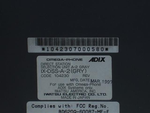 Iwatsu IX-DSS-A-2 / 104230 Console image