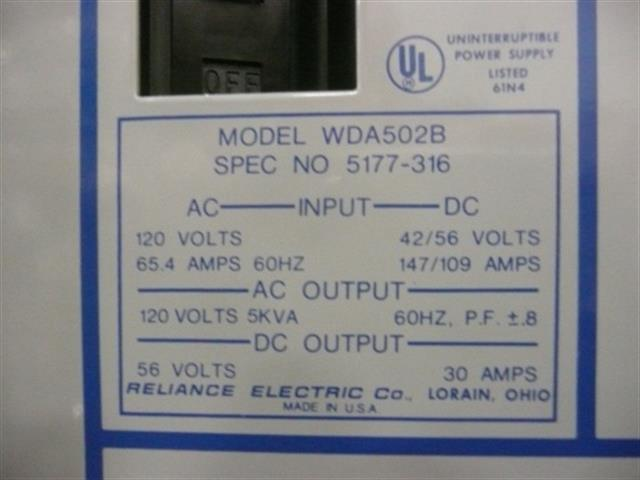 Lorain WDA502B Power Supply image