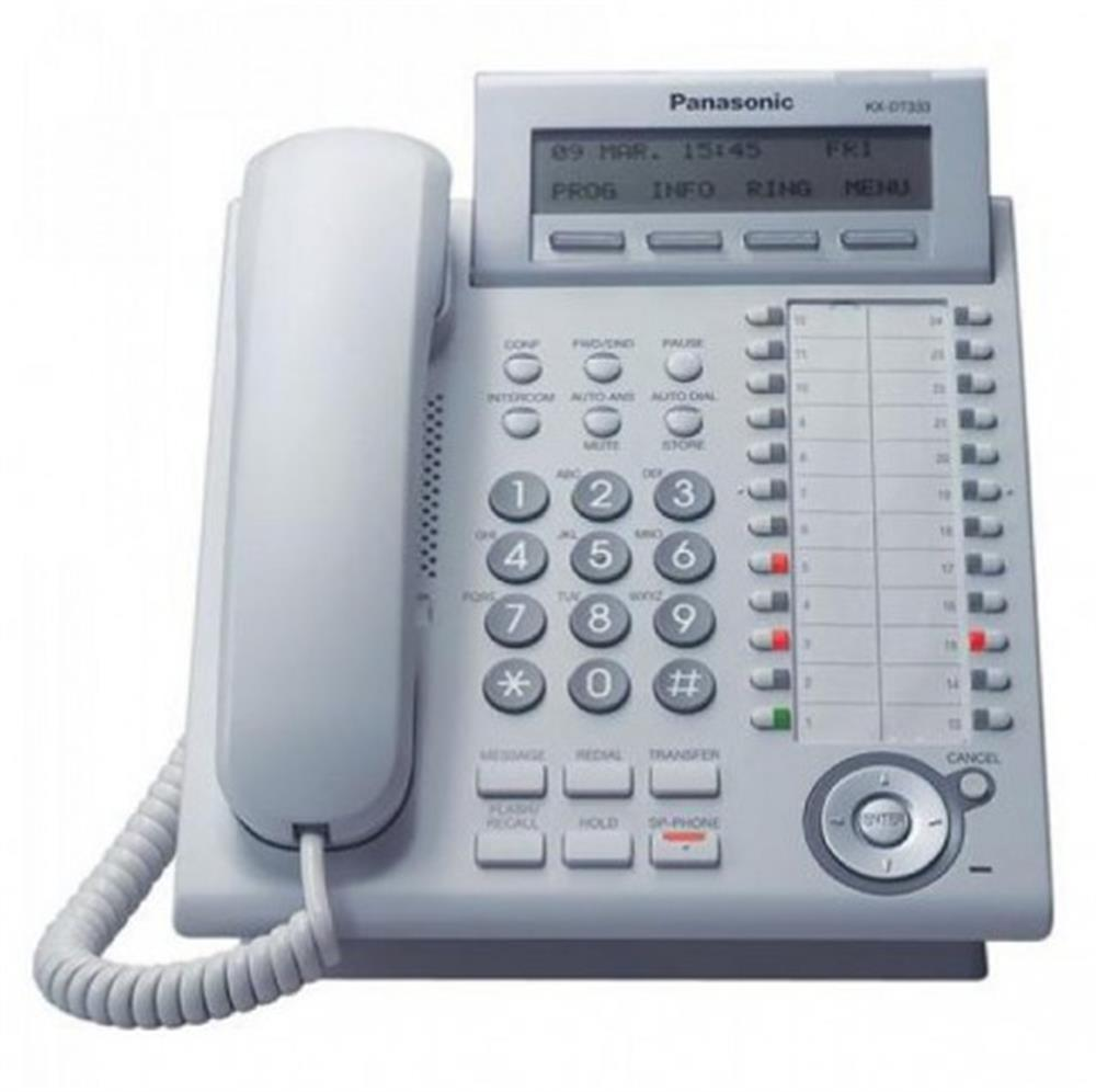 Panasonic DT 300 Series KX-DT333-W White 24 Button Digital Telephone with Full Duplex Speakerphone and 3 Line Display image