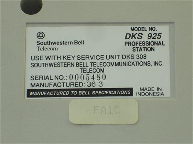 DKS925 - White Southwestern Bell image