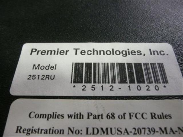 Premier Technologies 2512RU Module image