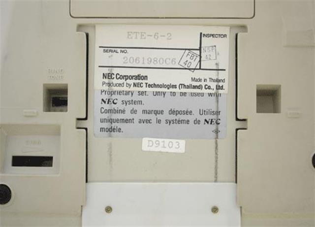 NEC ETE-6-2 Phone / B Stock image