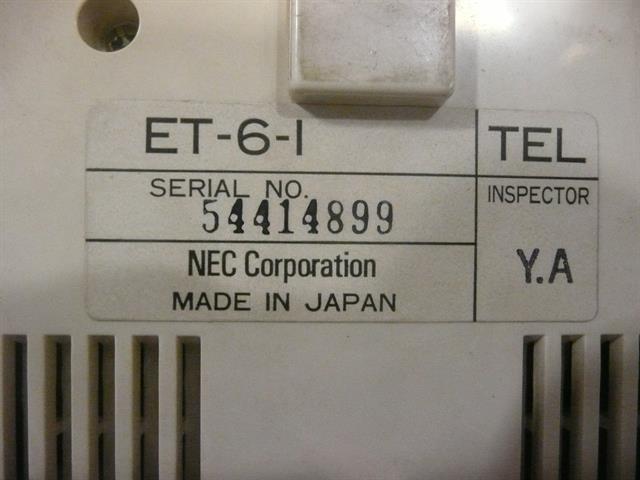 NEC ET-6-1 (B-Stock) Phone image