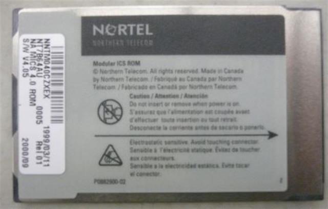 Nortel Norstar NT7B64AU Software Card image