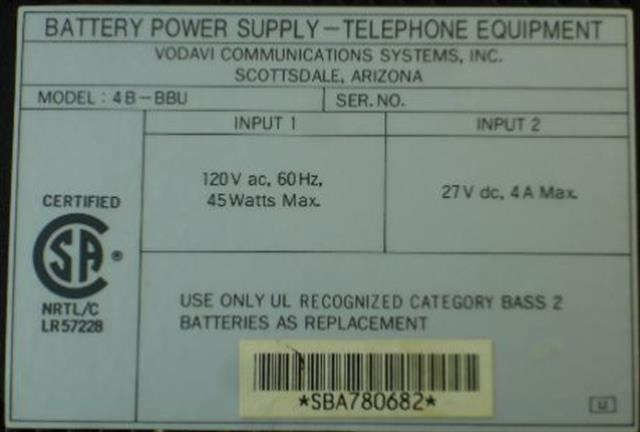 Vodavi VC61101 Power Supply image