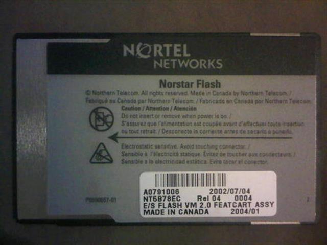 Nortel-Norstar NT6B78EC PCMCIA Card image