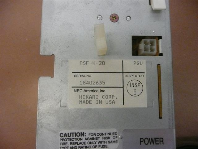 NEC Electra Professional PSF-H-20 720112 Power Supply image