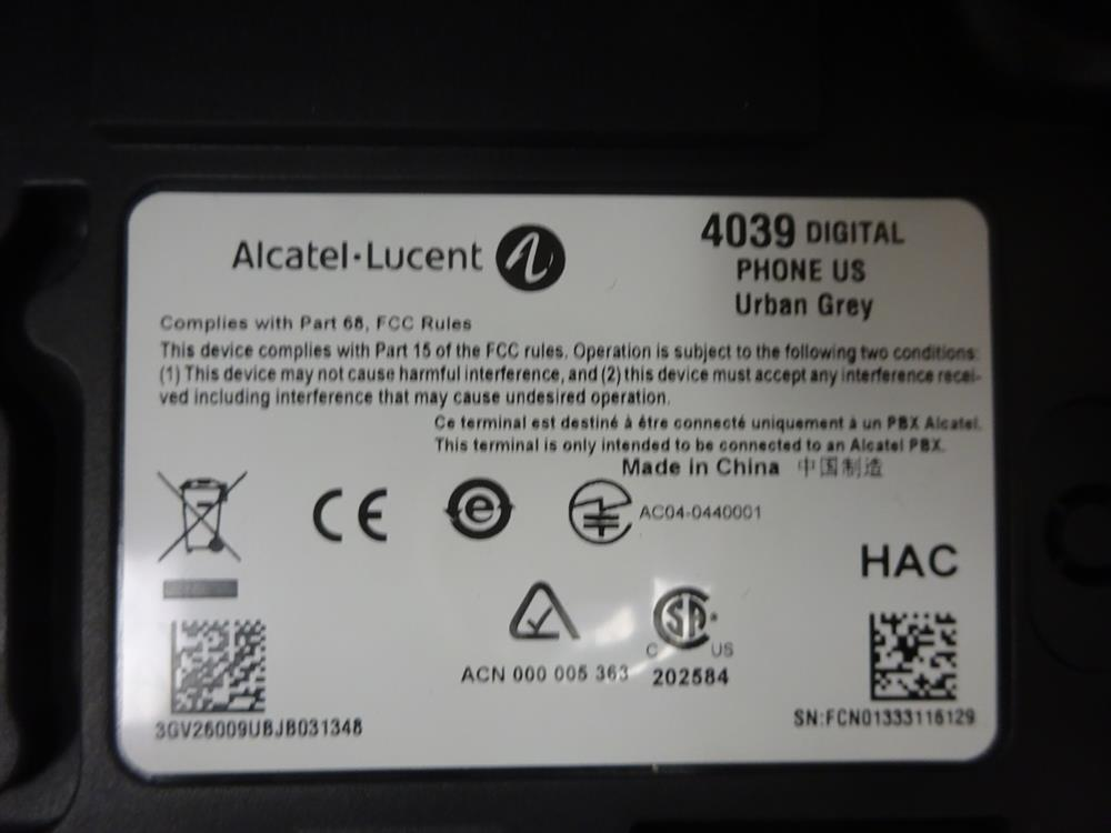 Alcatel-Lucent Omni-PCX 4039 10 Button Digital Phone with QWERTY Keyboard image