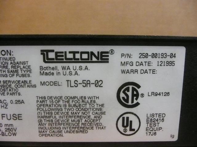 TLS-5A-02 / 250-00193-04 TelTone image