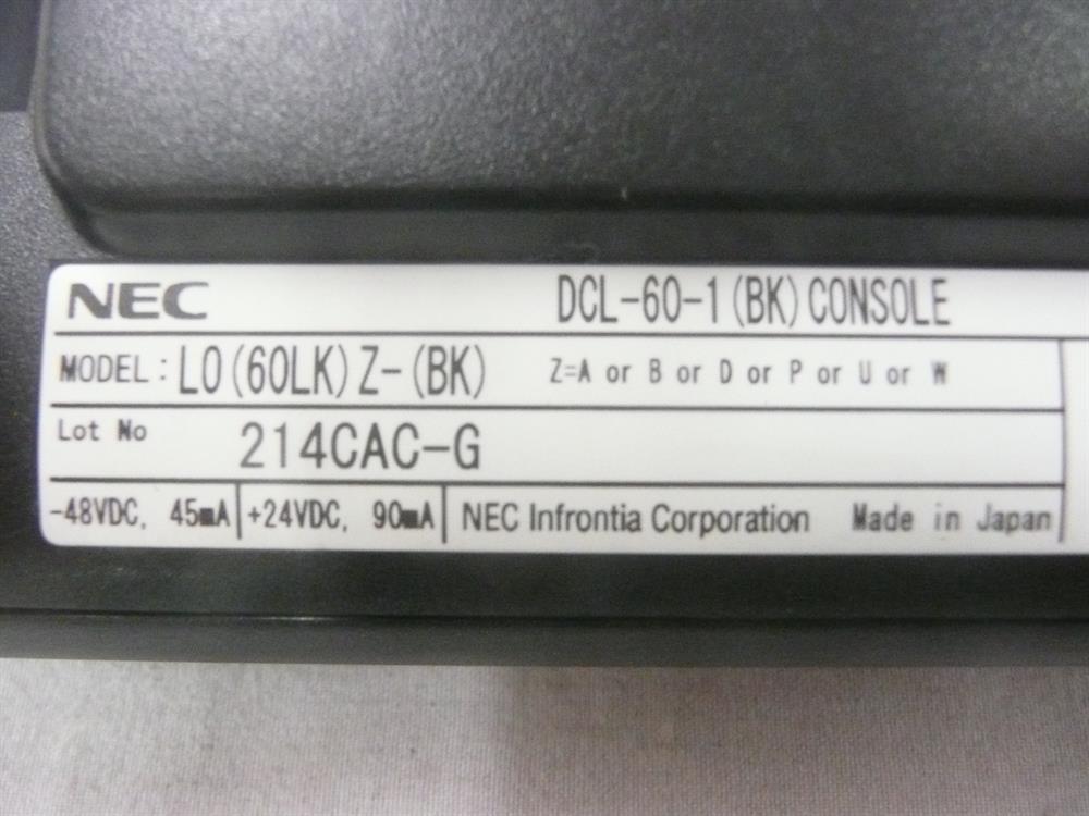 NEC DT300 Series DCL-60-1 680012 60 Button DSS/BLF Console image