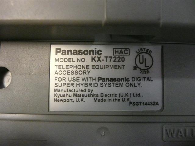KX-T7220 Panasonic image