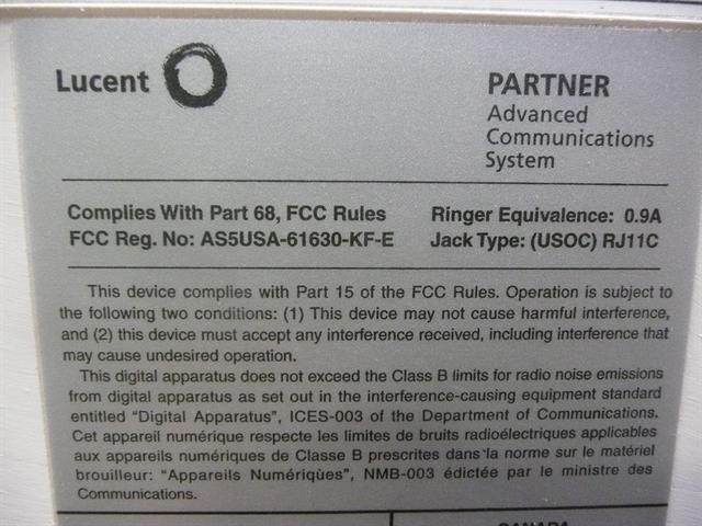 Avaya Partner ACS 103H 5 Slot Carrier image