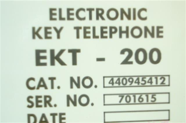 Tadiran EKT200 - 440945412 Phone image