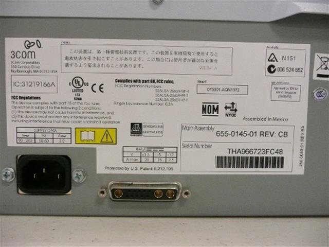 3COM 3C10200B / 655-0145-01 Chassis  image
