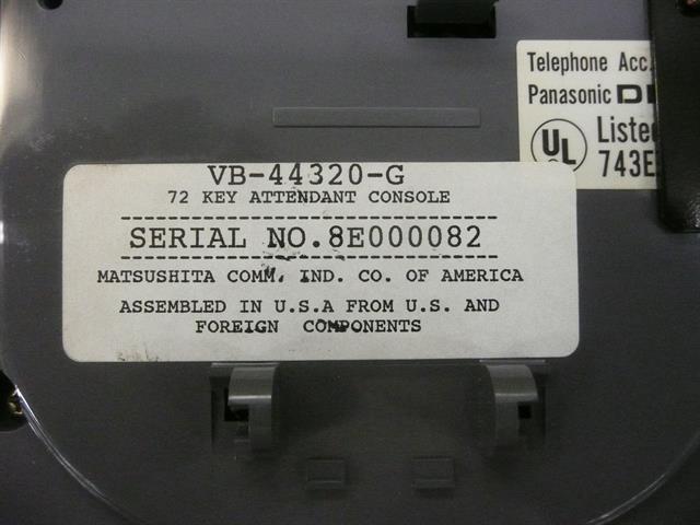 Panasonic VB-44320-G Console image