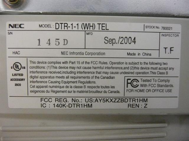 DTR-1-1 / 780021 NEC image