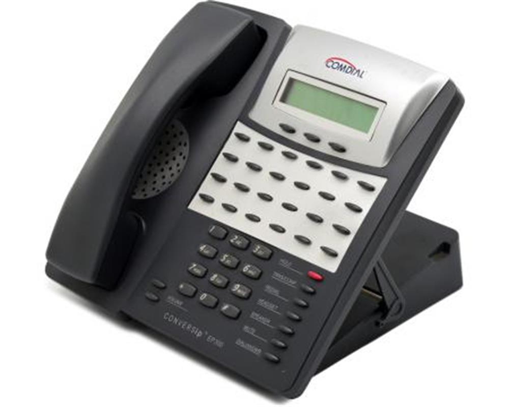 Comdial ConversIP EP300G-24 Dark Grey SIP Telephone with 24 Dark Grey Programmable Buttons, Display and Full Duplex Speakerphone image