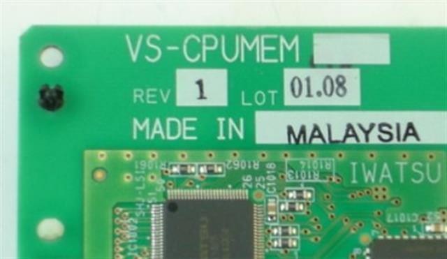 Iwatsu VS-CPUMEM Circuit Card image