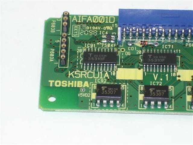 Toshiba K5RCU1A (NIB) Version 1 Circuit Card image