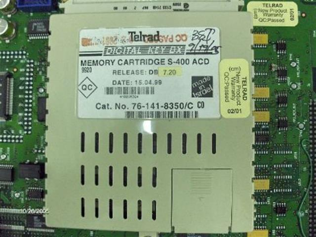 Telrad 76-141-8350 Memory Cartridge image