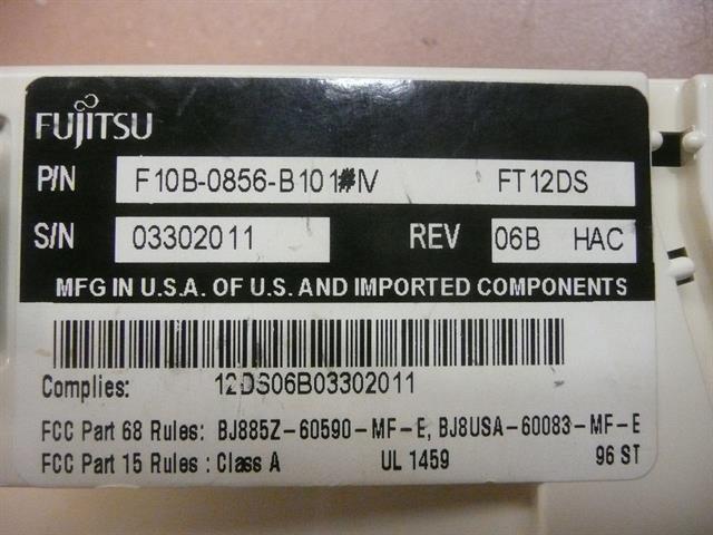 F10B-0856-B101#IV Fujitsu image