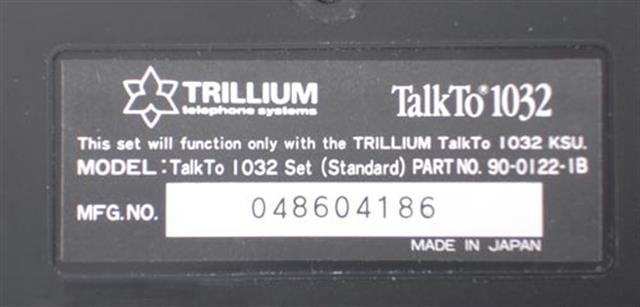 Trillium 90-0123 HandsFree Phone image