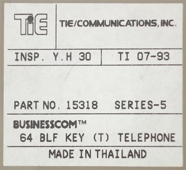 Tie BusinessCom 15318 24 Button Electronic TelepPhone image