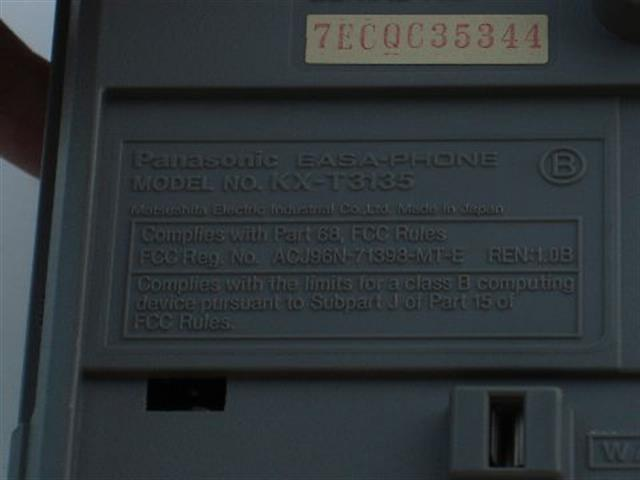 Panasonic KX-T3135 Phone image