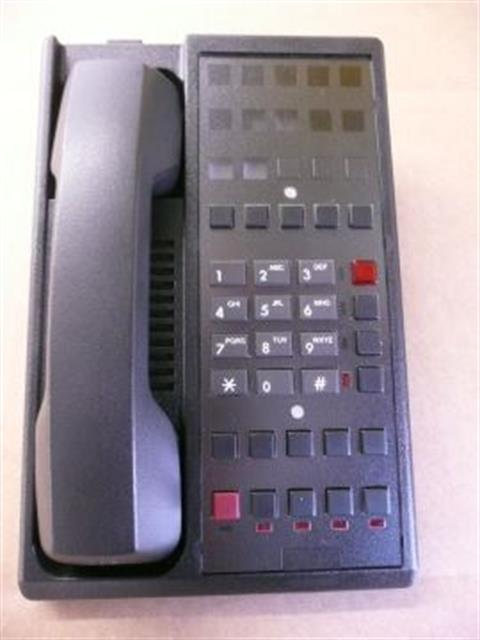 Teledex Diamond +L2S-10E DIA673591 Black 2 Line Room Phone with 10 Guest Service Buttons image