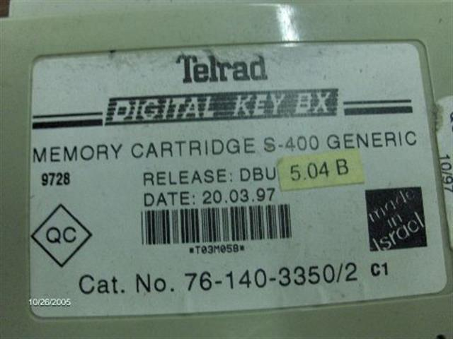 Telrad 76-140-3350 Memory Cartridge image