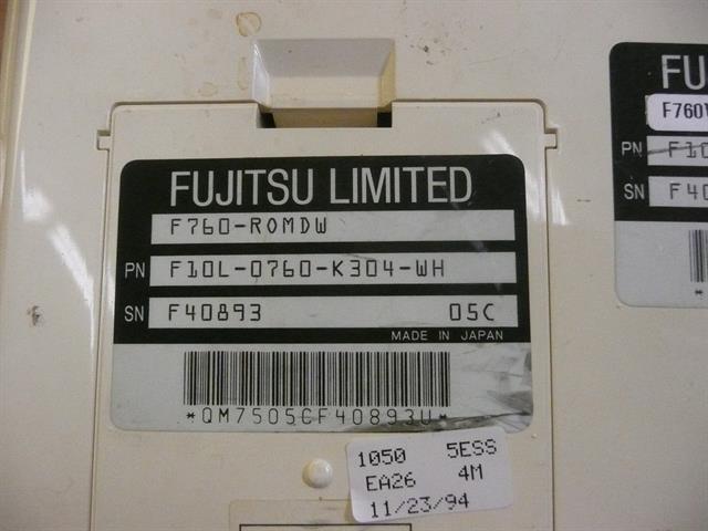 F10L-0760-K304-WH / F760-ROMDW Fujitsu image