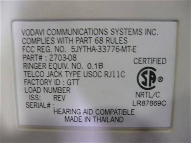 Vodavi 2703-08 (B-Stock) Phone image
