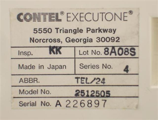 Executone- Isoetec 2512505 Phone image