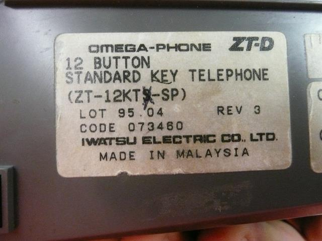 Iwatsu ZT-12KTX-SP - 073470 Phone image