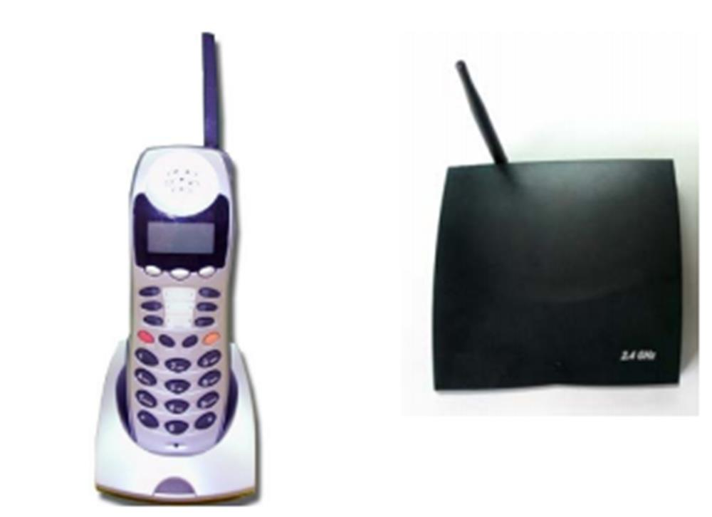 Iwatsu Omega Phone 924 OM-8WRLS 700430 6 Button Digital 2.4Ghz Cordless Telephone Package image
