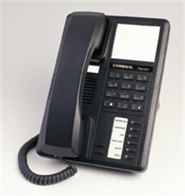 Comdial Impact SCS 8201N-FB Flat Black Single Line Digital Telephone image