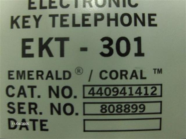 EKT301 - 440942912 Ash Large Display Tadiran image