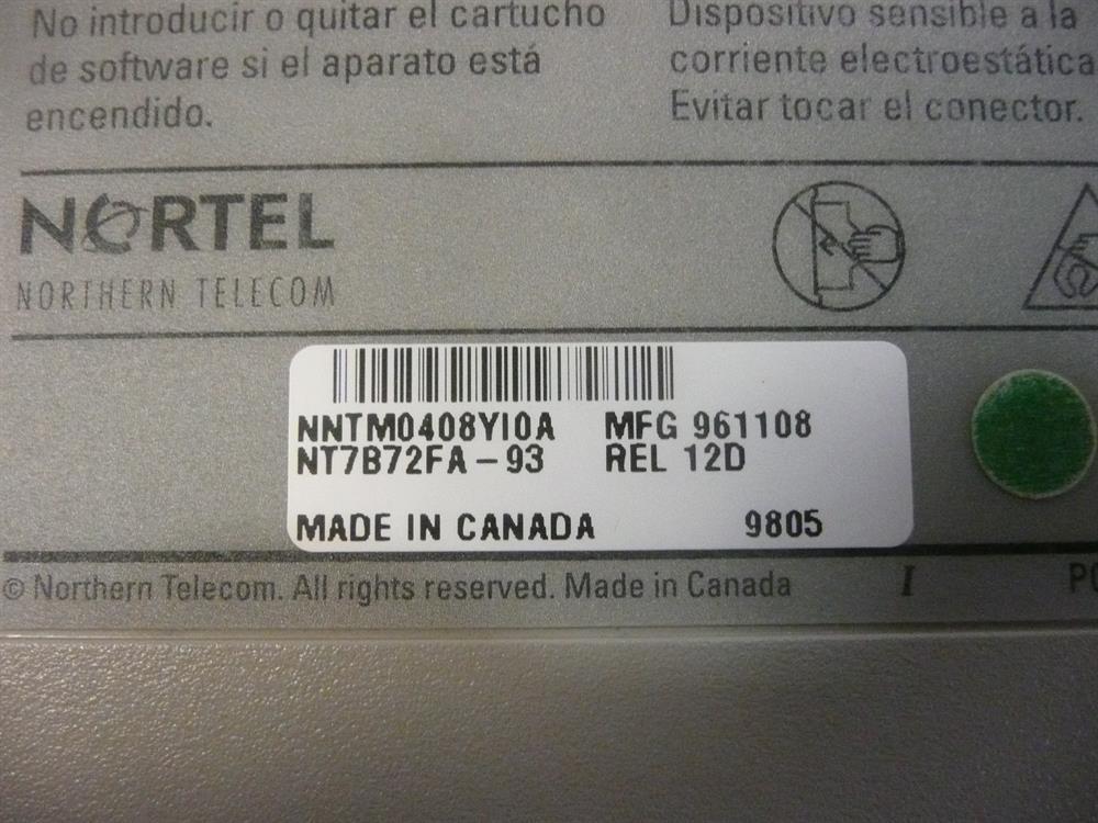 Nortel-Norstar NT7B72FA Software Cartridge image