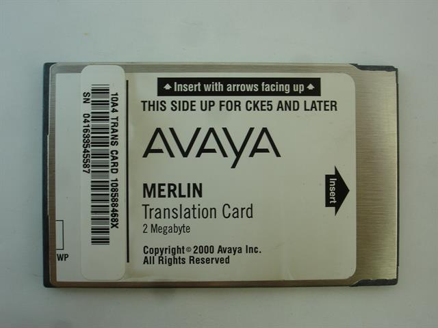108588468 / Translation Card AT&T/Lucent/Avaya image